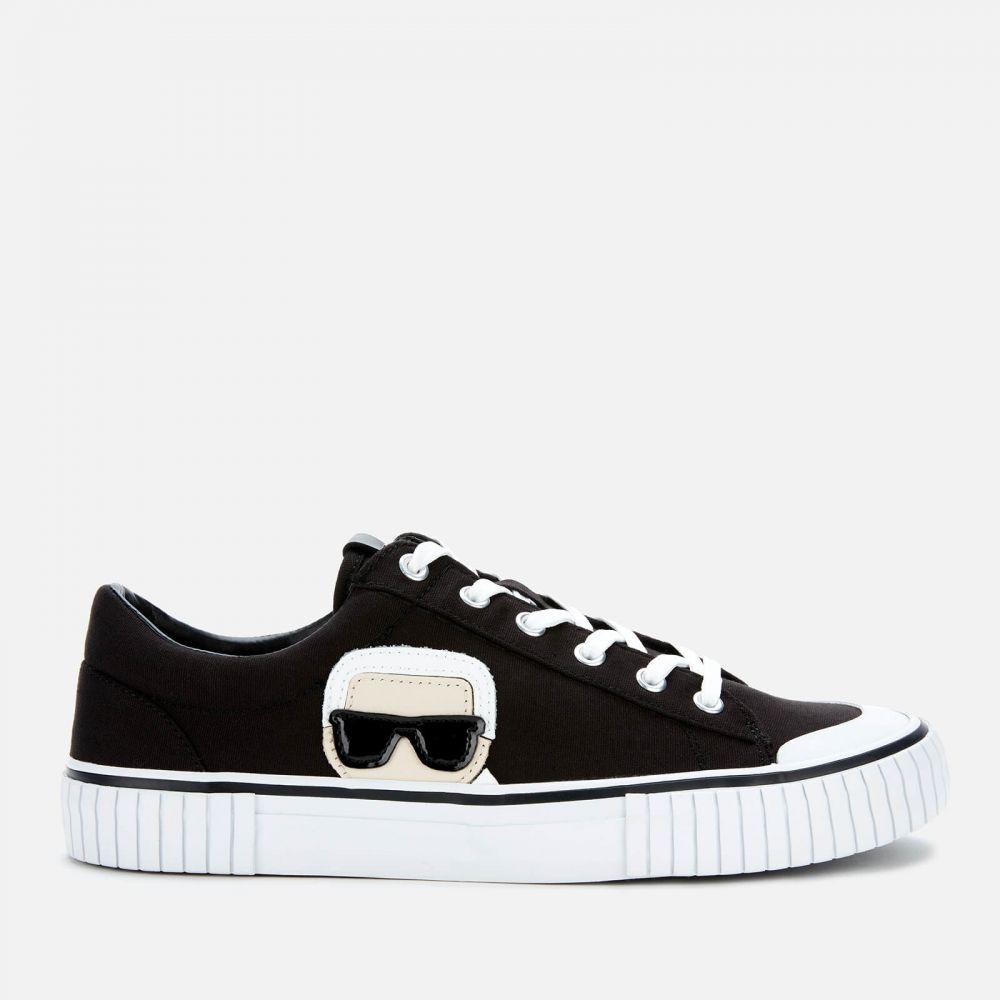 カール ラガーフェルド Karl Lagerfeld メンズ スニーカー シューズ・靴【Kampus II Karl Ikonic Canvas Trainers】Black
