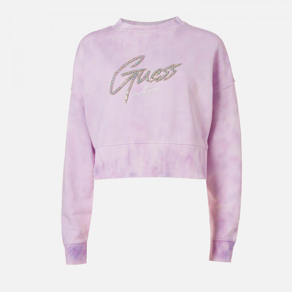 ゲス Guess レディース スウェット・トレーナー トップス【Lucina Fleece Sweatshirt】Purple