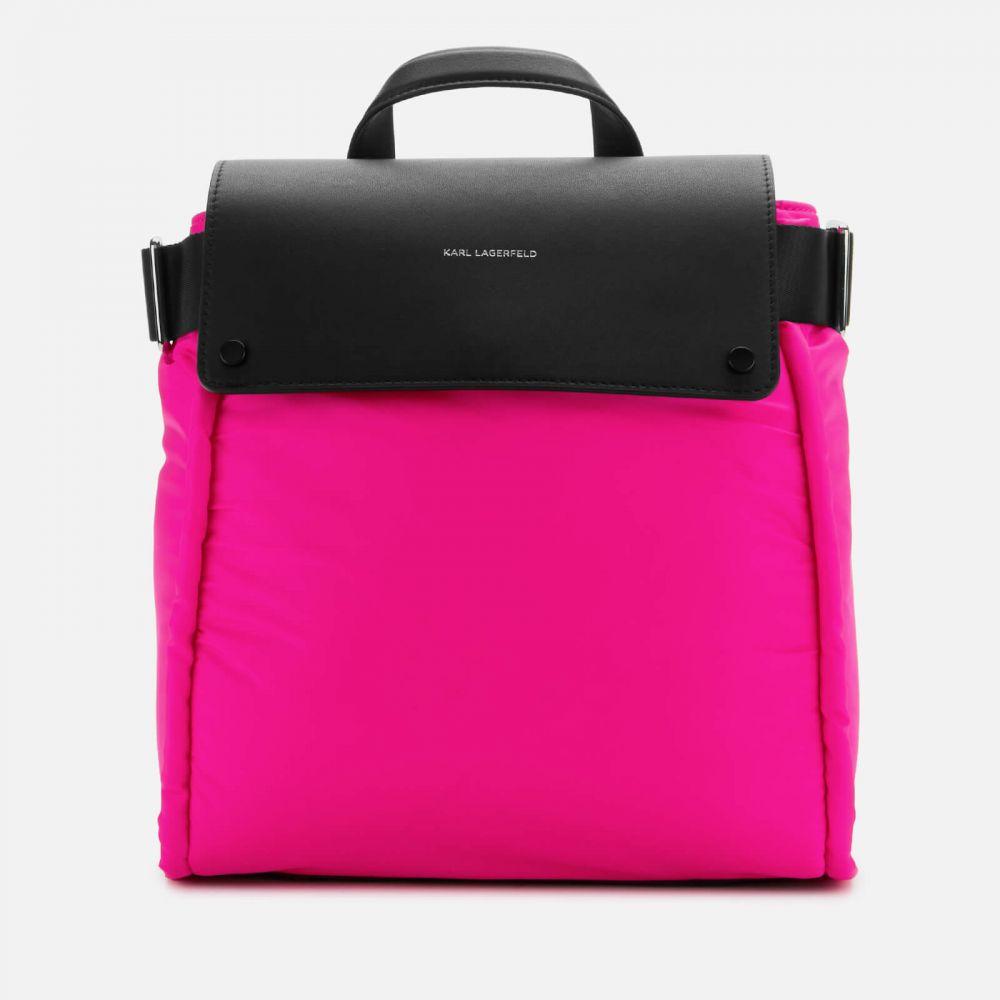 カール ラガーフェルド Karl Lagerfeld レディース バックパック・リュック バッグ【K/Ikon Nylon Backpack】Black/Pink