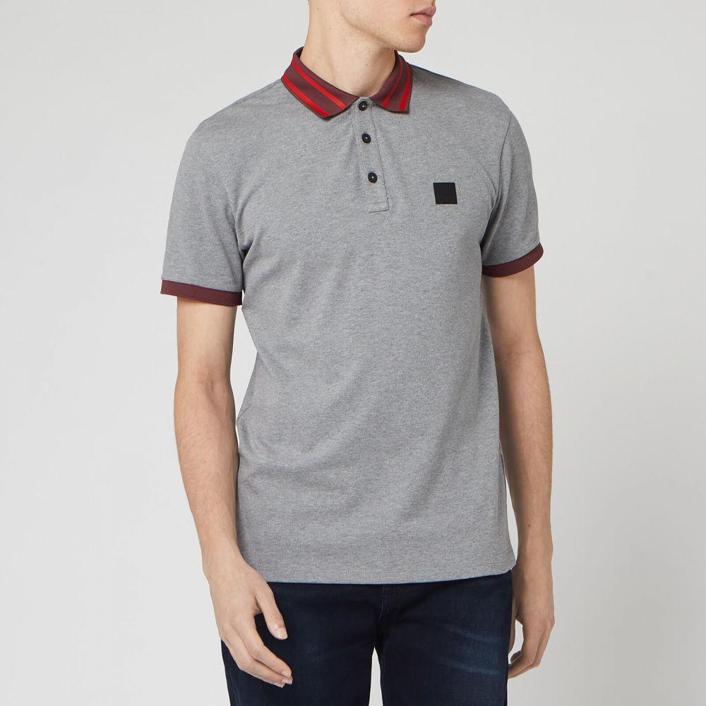 ヒューゴ ボス BOSS Hugo Boss メンズ ポロシャツ トップス【BOSS Premixt Polo Shirt】Grey