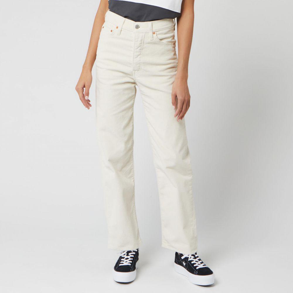 リーバイス Levi's レディース ジーンズ・デニム ボトムス・パンツ【Ribcage Straight Ankle Corduroy Jeans】White
