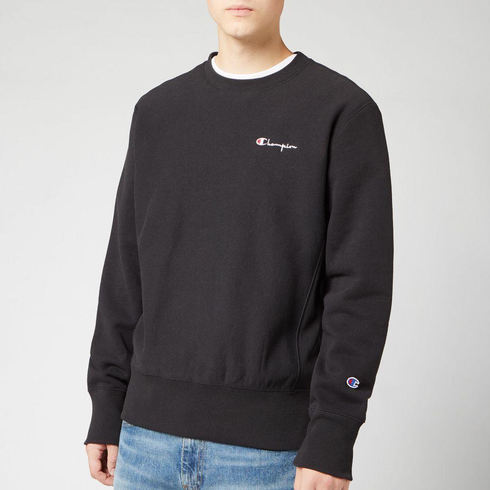 チャンピオン Champion メンズ スウェット・トレーナー トップス【small script sweatshirt - black】Black