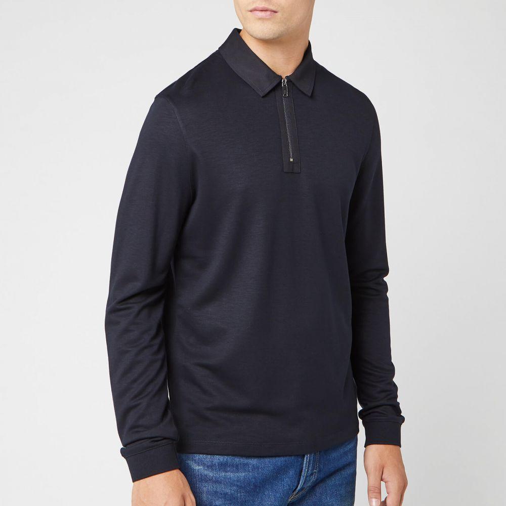 テッドベーカー Ted Baker メンズ ポロシャツ トップス【mytype long sleeve polo shirt - navy】Navy