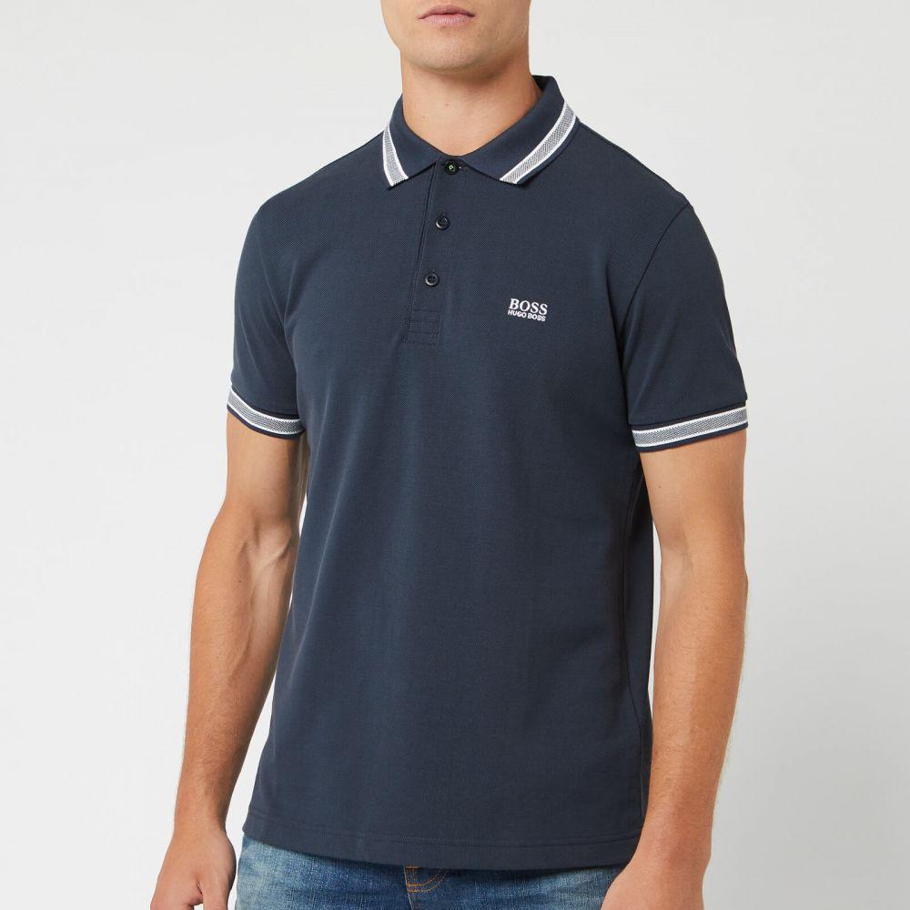 ヒューゴ ボス BOSS メンズ ポロシャツ トップス【paddy tipped polo shirt - navy】Navy