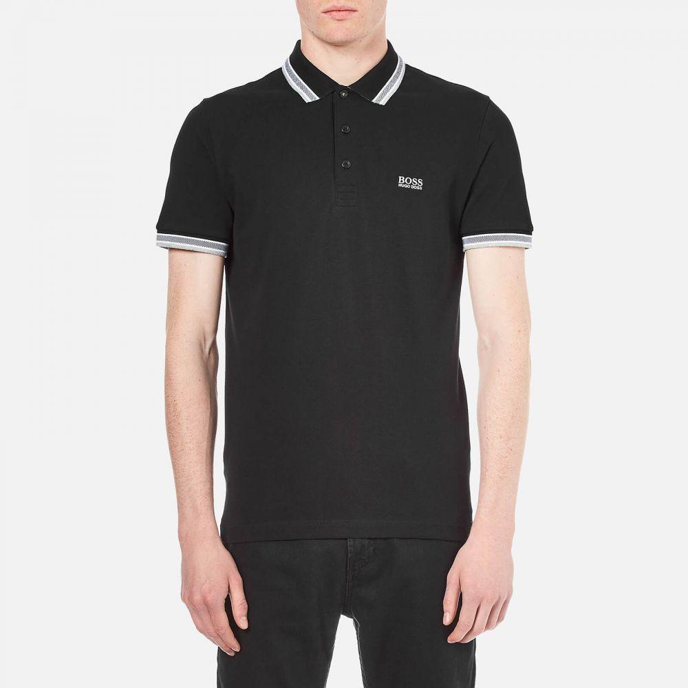 ヒューゴ ボス BOSS メンズ ポロシャツ トップス【paddy tipped polo shirt - black】Black