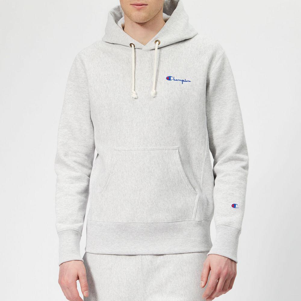 チャンピオン Champion メンズ パーカー トップス【small logo hooded sweatshirt - grey】Grey