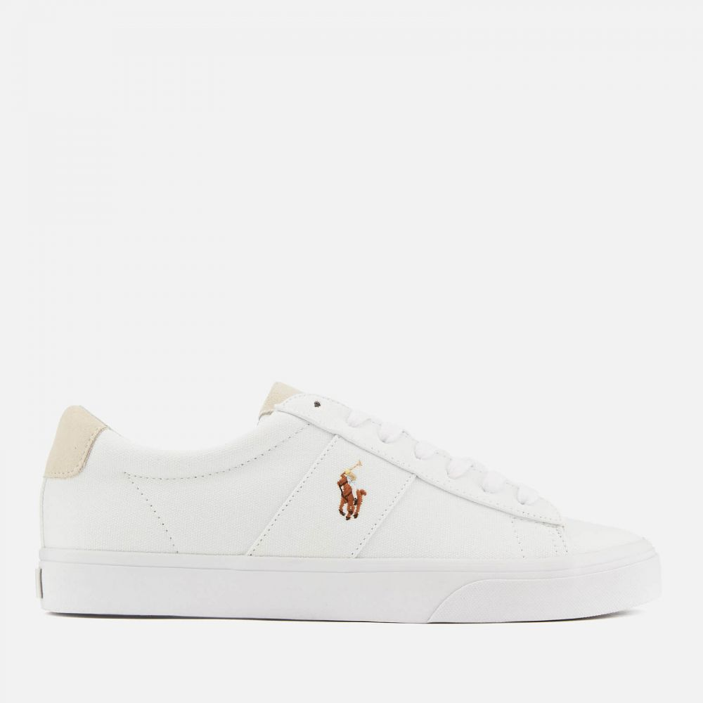 ラルフ ローレン Polo Ralph Lauren メンズ スニーカー シューズ・靴【sayer ne vulcanised canvas trainers - white】White