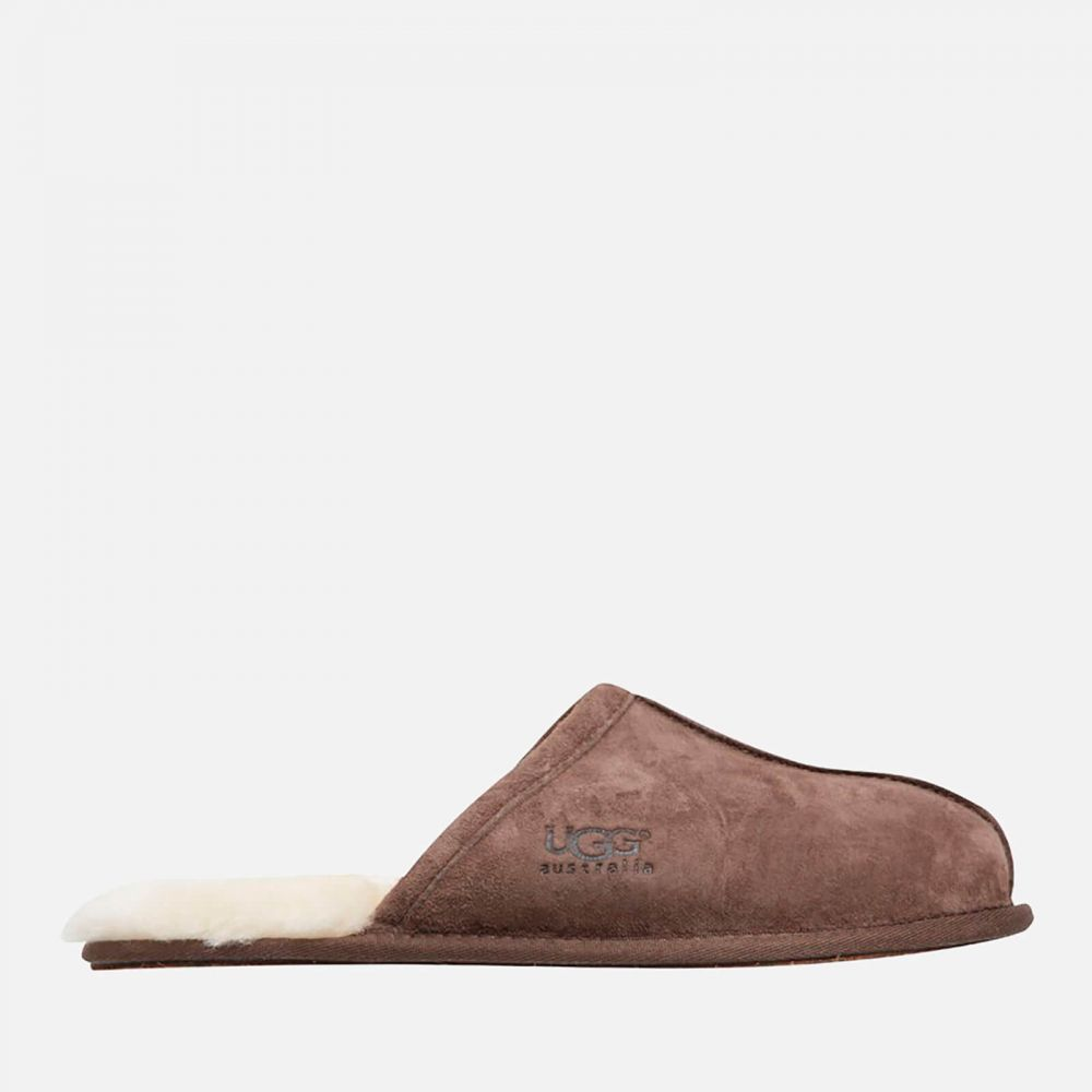 アグ UGG メンズ スリッパ シューズ・靴【scuff suede sheepskin slippers - espresso】Brown