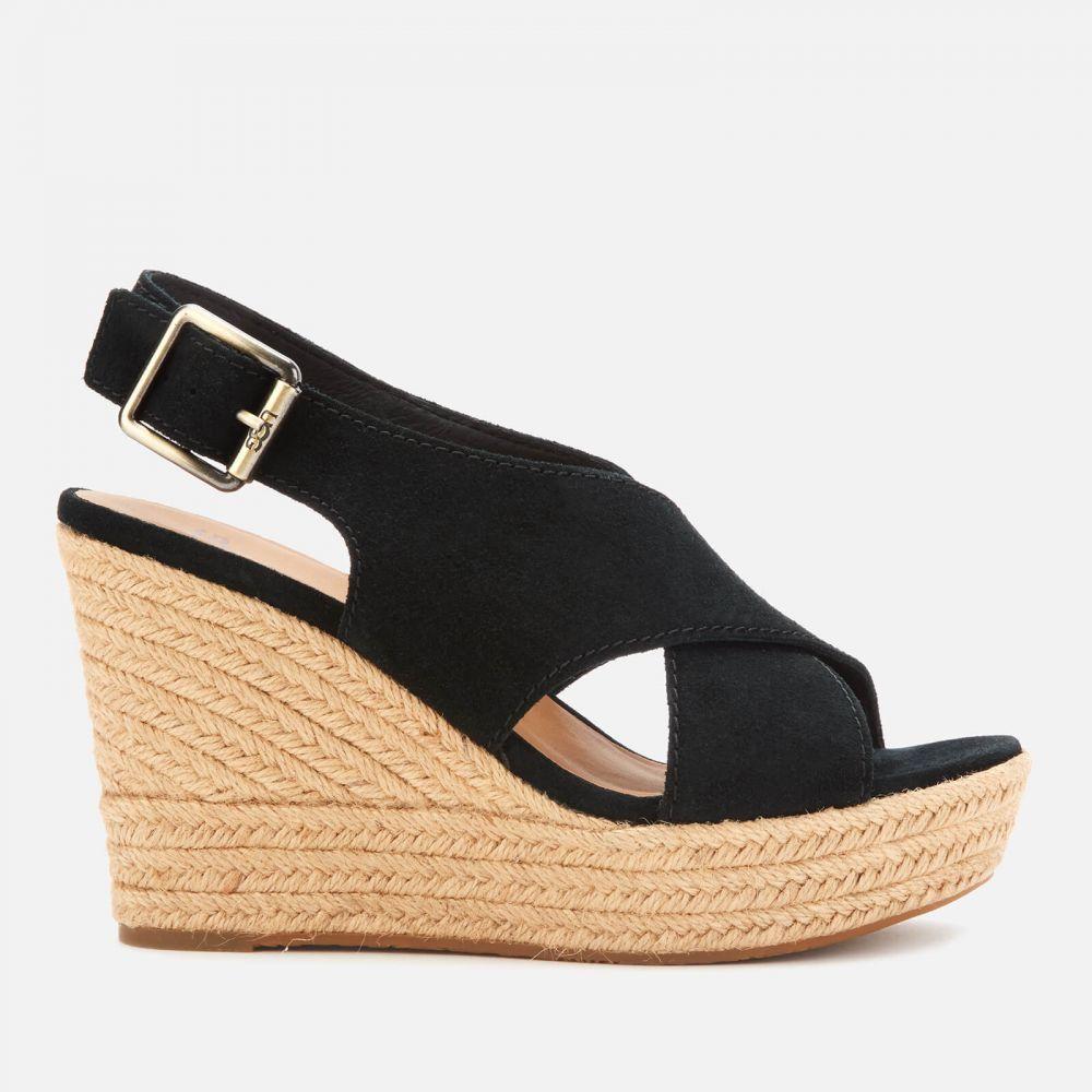 アグ UGG レディース サンダル・ミュール シューズ・靴【Harlow Suede Wedged Sandals】Black