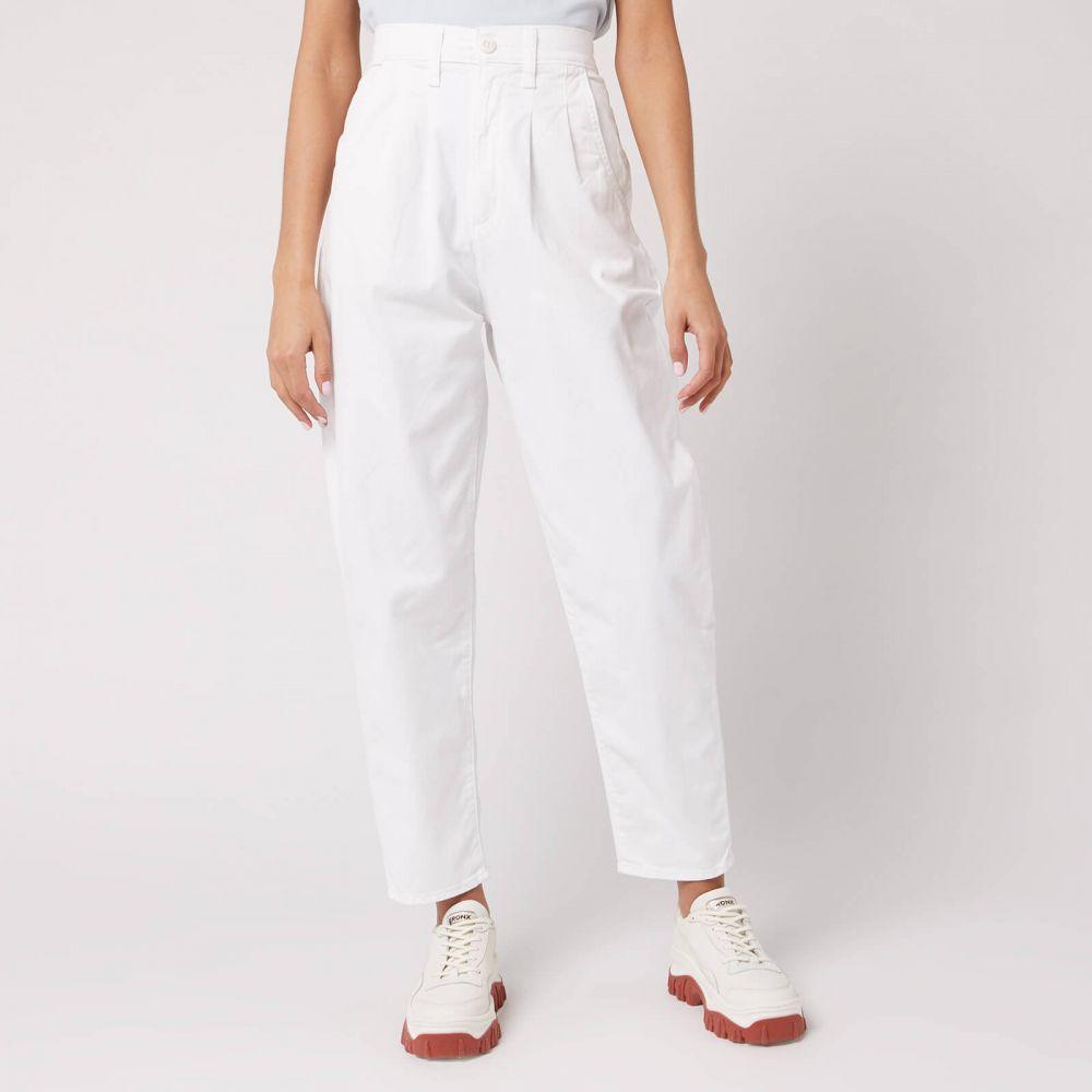 リーバイス Levi's レディース ジーンズ・デニム ボトムス・パンツ【Pleated Balloon Leg Jeans】White