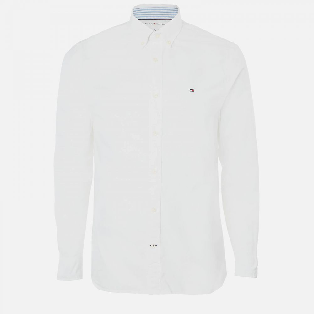 トミー ヒルフィガー Tommy Hilfiger メンズ シャツ トップス【Organic Oxford Shirt】White