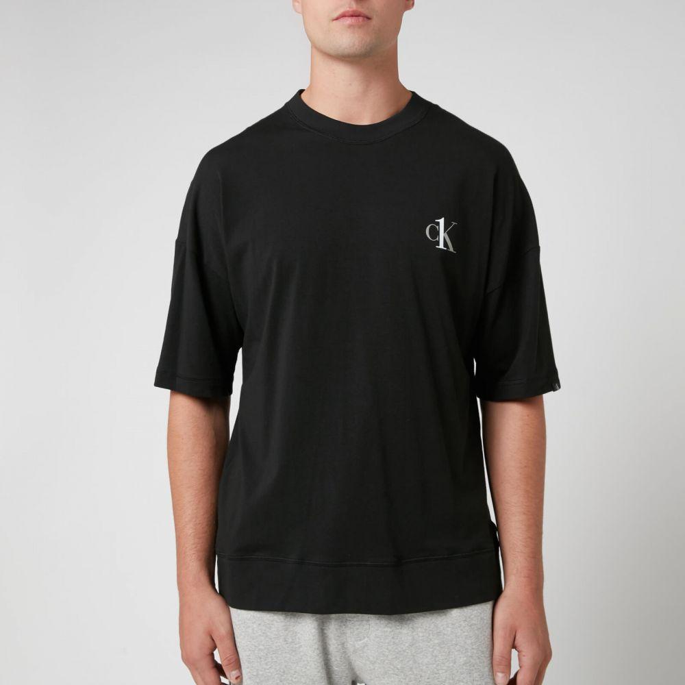 ふるさと納税 カルバンクライン Calvin Klein メンズ Tシャツ Neck トップス【Jersey Tシャツ Crew Neck T-Shirt T-Shirt - Black】Black, ユナイテッドオーク:ce31573f --- cpps.dyndns.info