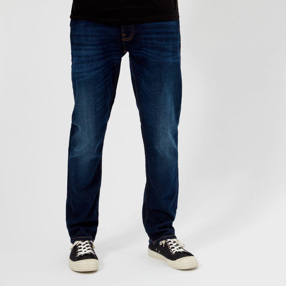 ヌーディージーンズ Nudie Jeans メンズ ジーンズ・デニム ボトムス・パンツ【dude dan straight jeans - dark deep worn】Blue