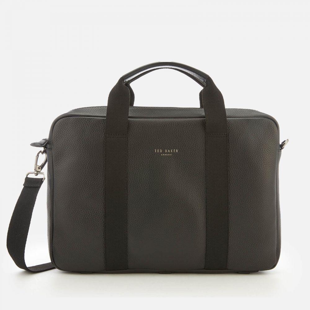 テッドベーカー Ted Baker メンズ ビジネスバッグ・ブリーフケース バッグ【importa leather document bag - black】Black