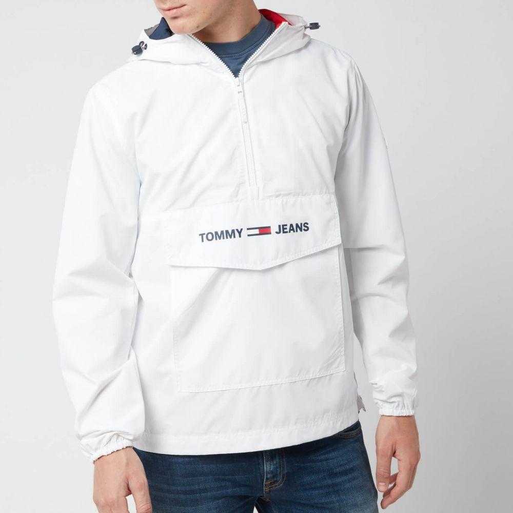 トミー ジーンズ Tommy Jeans メンズ ジャケット アウター【lightweight pop over jacket - classic white】White