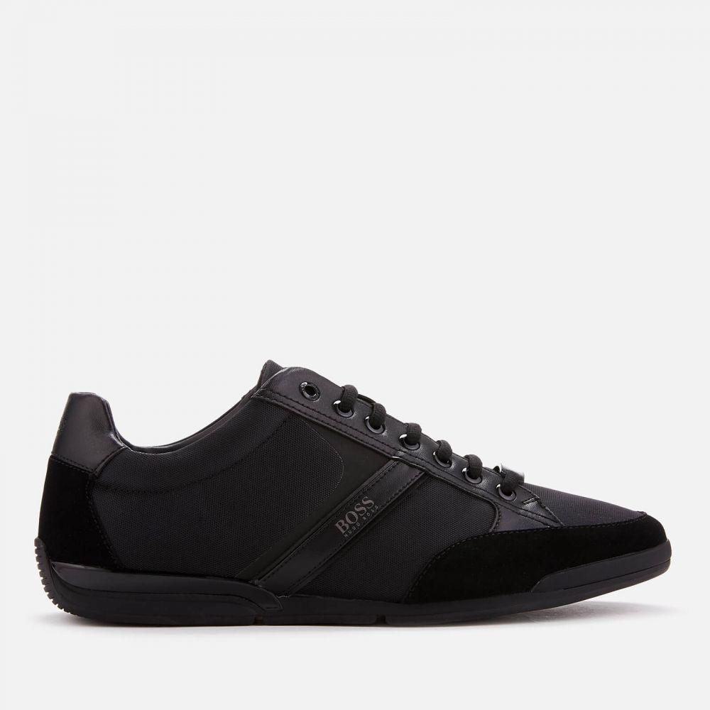 ヒューゴ ボス BOSS メンズ スニーカー シューズ・靴【saturn low profile trainers - black】Black