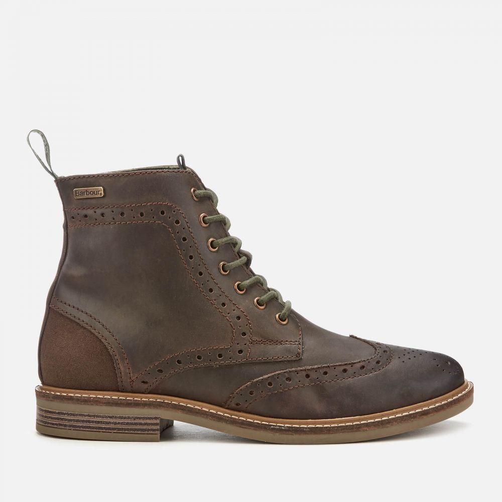 バブアー Barbour メンズ ブーツ メダリオン レースアップブーツ シューズ・靴【belsay leather brogue lace up boots - choco】Brown