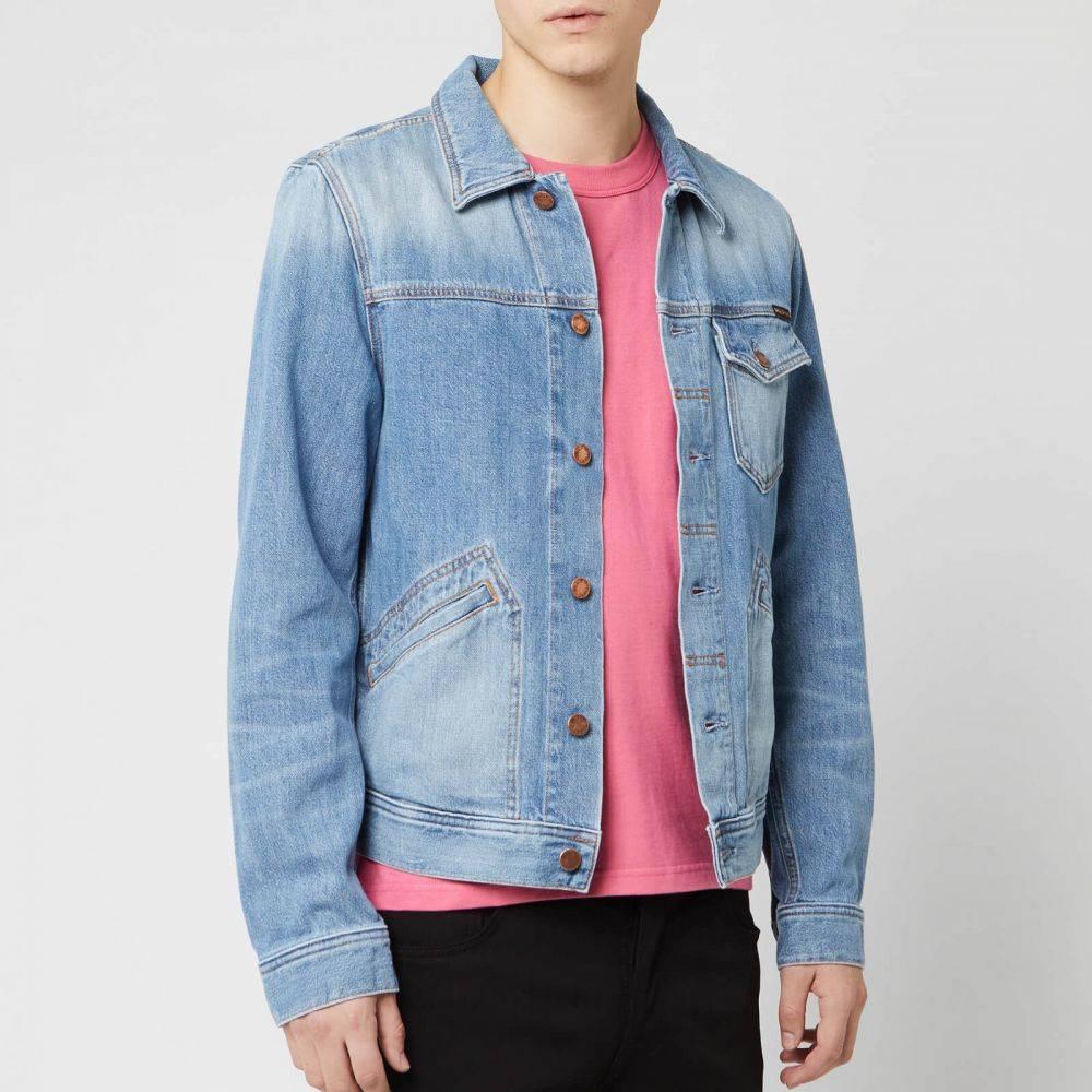 ヌーディージーンズ Nudie Jeans メンズ ジャケット Gジャン アウター【tommy denim jacket - broken twill】Blue