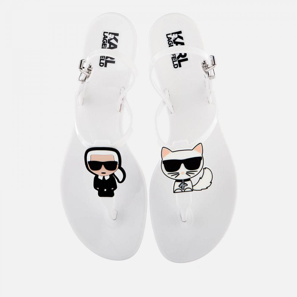 カール ラガーフェルド Karl Lagerfeld レディース ビーチサンダル シューズ・靴【jelly karl ikonik sandals - white】White