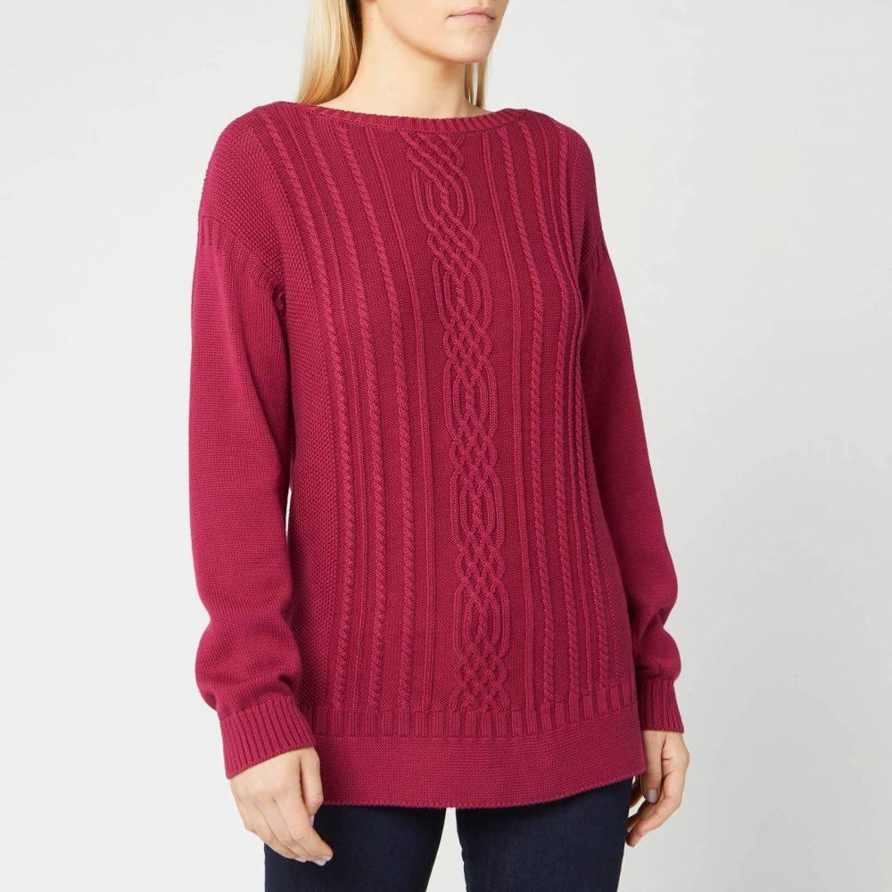 バブアー Barbour レディース ニット・セーター トップス【stockehold knit jumper - deep pink】Pink