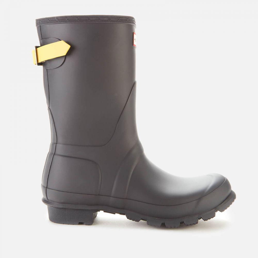 ハンター Hunter レディース ブーツ シューズ・靴【original back adjustable short boots - luna/lightning yellow】Black