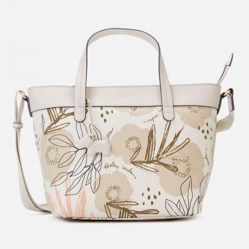 ラドリー Radley レディース ショルダーバッグ バッグ【desert floral medium zip top multiway bag - chalk】Beige