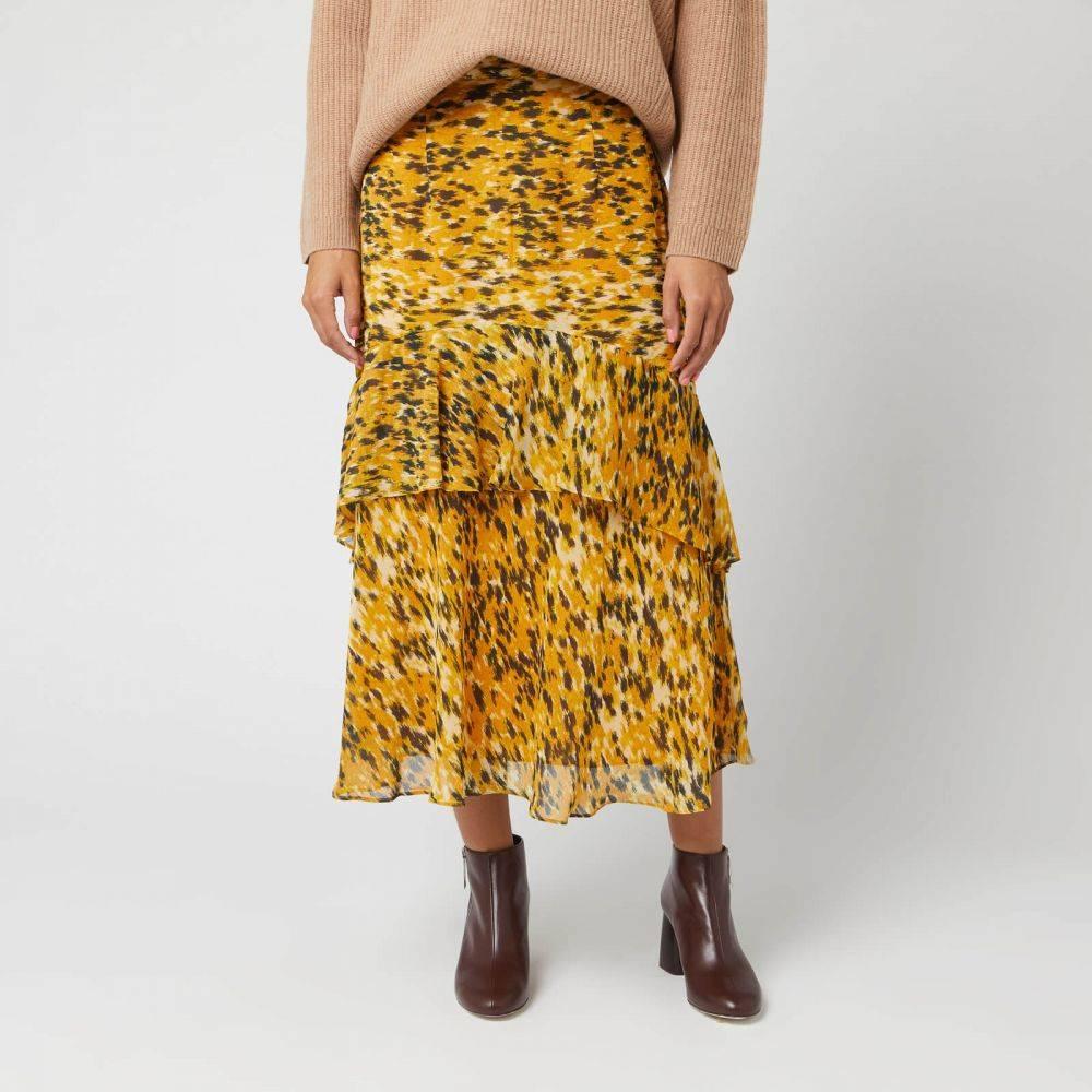 ホイッスルズ Whistles レディース ひざ丈スカート スカート【ikat animal nora skirt - yellow/multi】Yellow