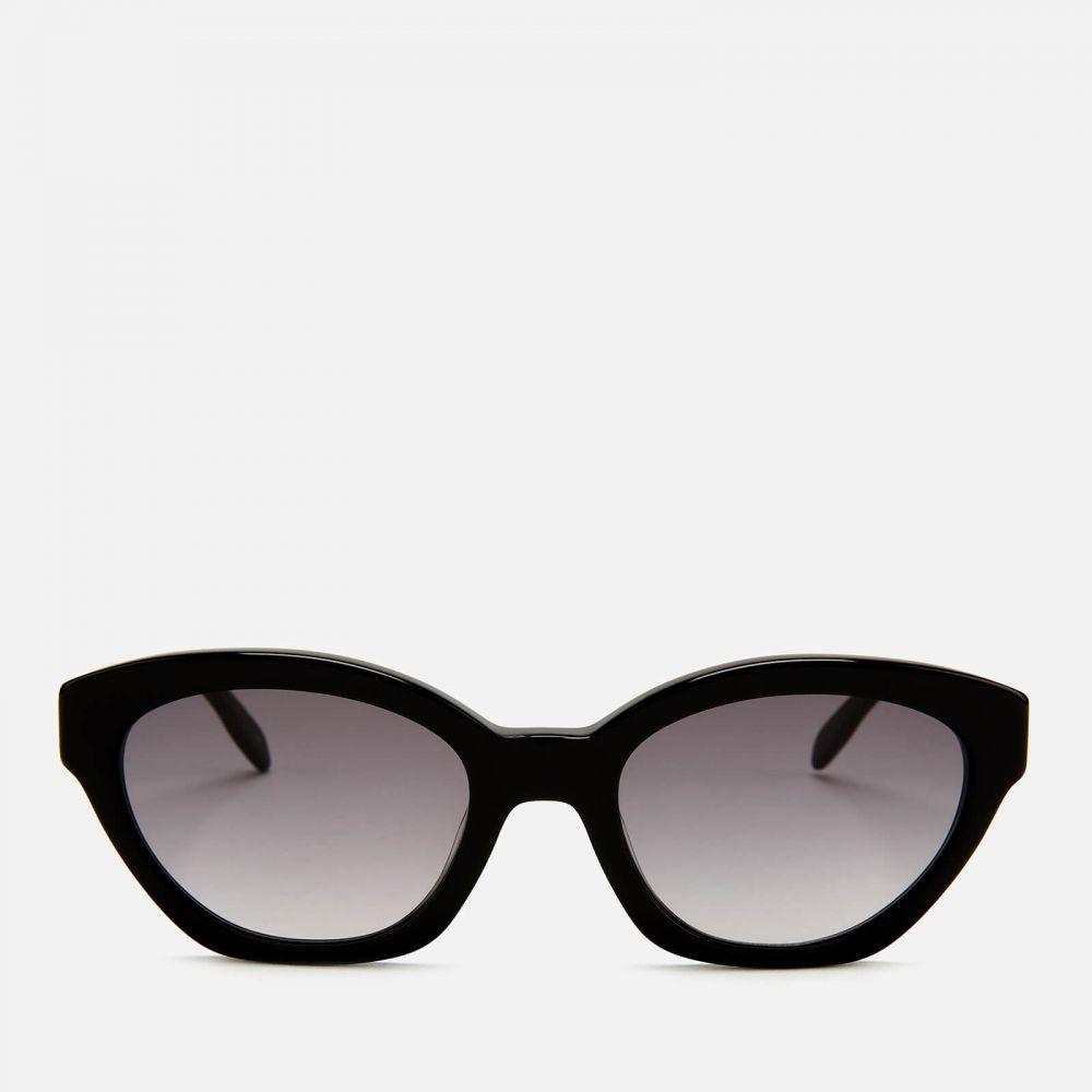 カール ラガーフェルド Karl Lagerfeld レディース メガネ・サングラス オーバル【oval frame sunglasses - black】Black