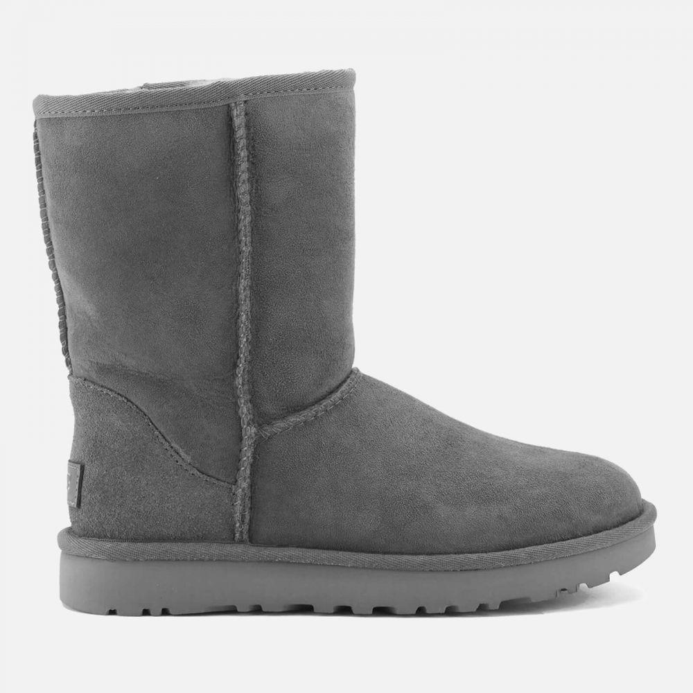アグ UGG レディース ブーツ シューズ・靴【classic short ii sheepskin boots - grey】Grey