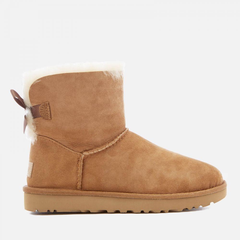アグ UGG レディース ブーツ シューズ・靴【mini bailey bow ii sheepskin boots - chestnut】Tan