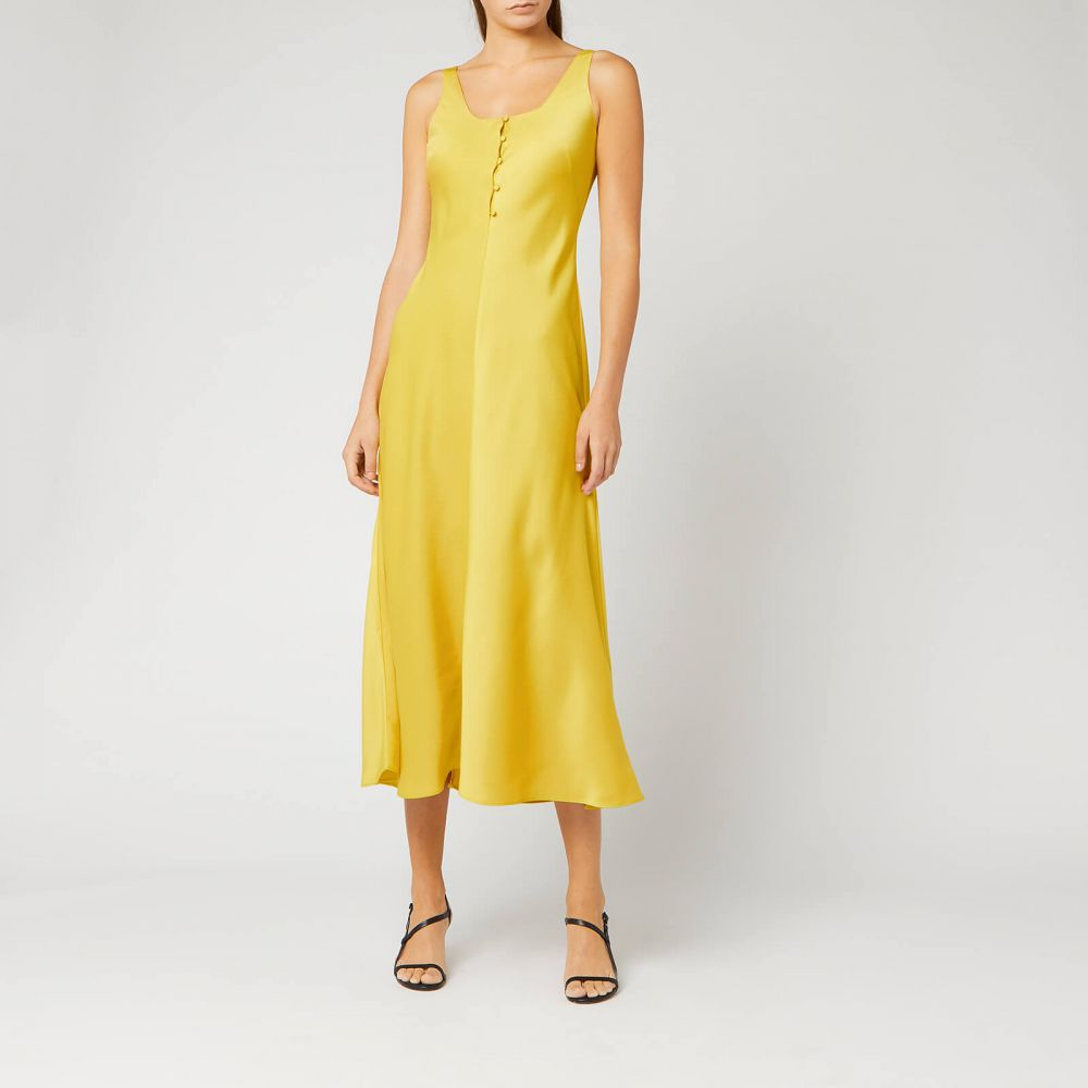 ホイッスルズ Whistles レディース ワンピース スリップドレス ワンピース・ドレス【pippa satin slip dress - yellow】Yellow