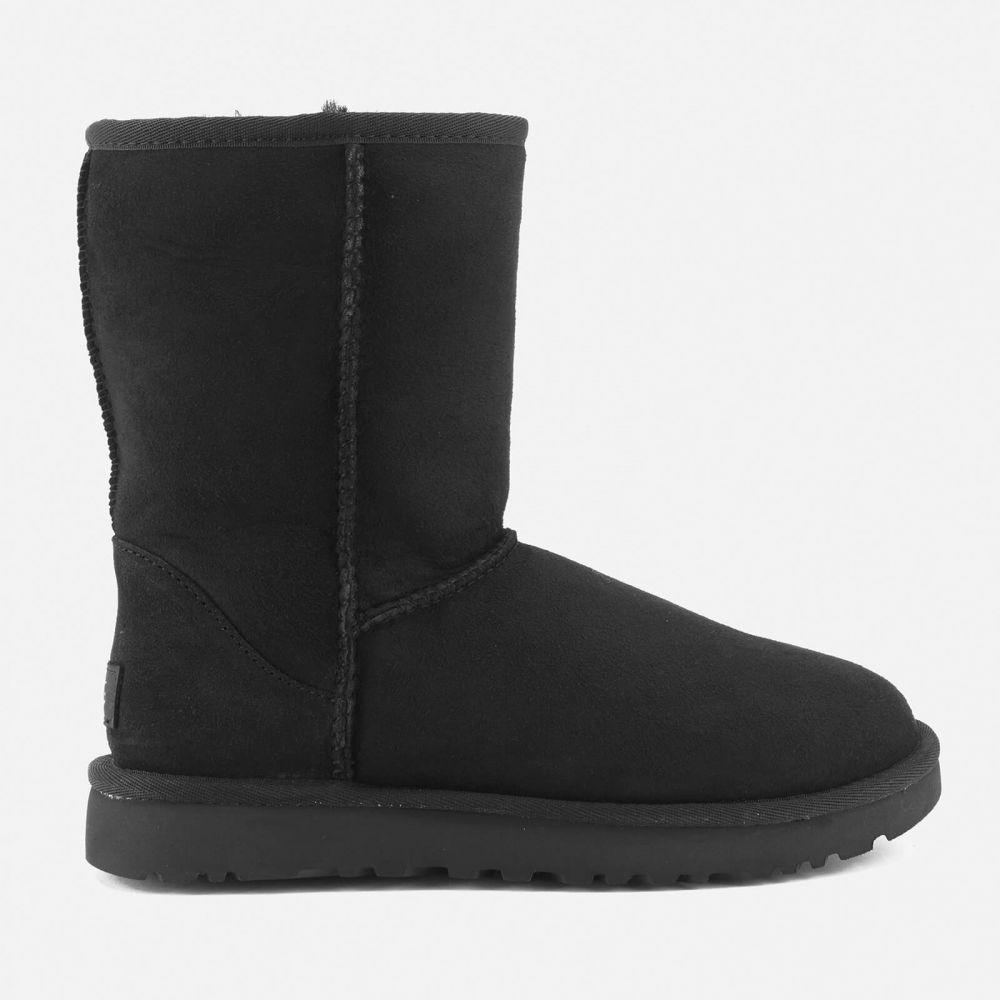 アグ UGG レディース ブーツ シューズ・靴【classic short ii sheepskin boots - black】Black