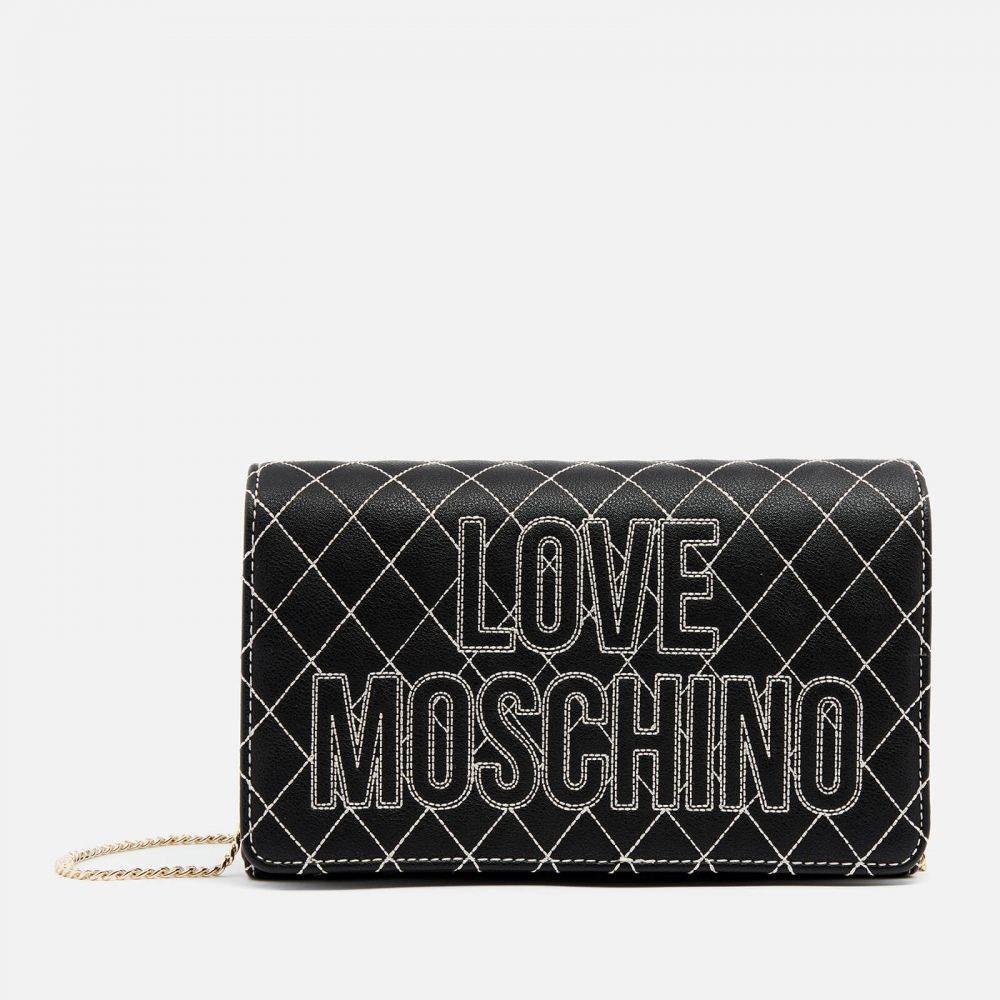 モスキーノ Love Moschino レディース ショルダーバッグ バッグ【quilted logo shoulder bag - black】Black