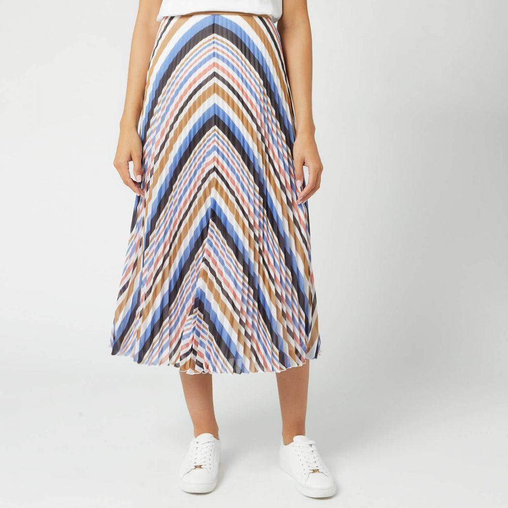 ヒューゴ ボス BOSS レディース ひざ丈スカート スカート【bareny midi skirt - pink/blue/tan】Multi