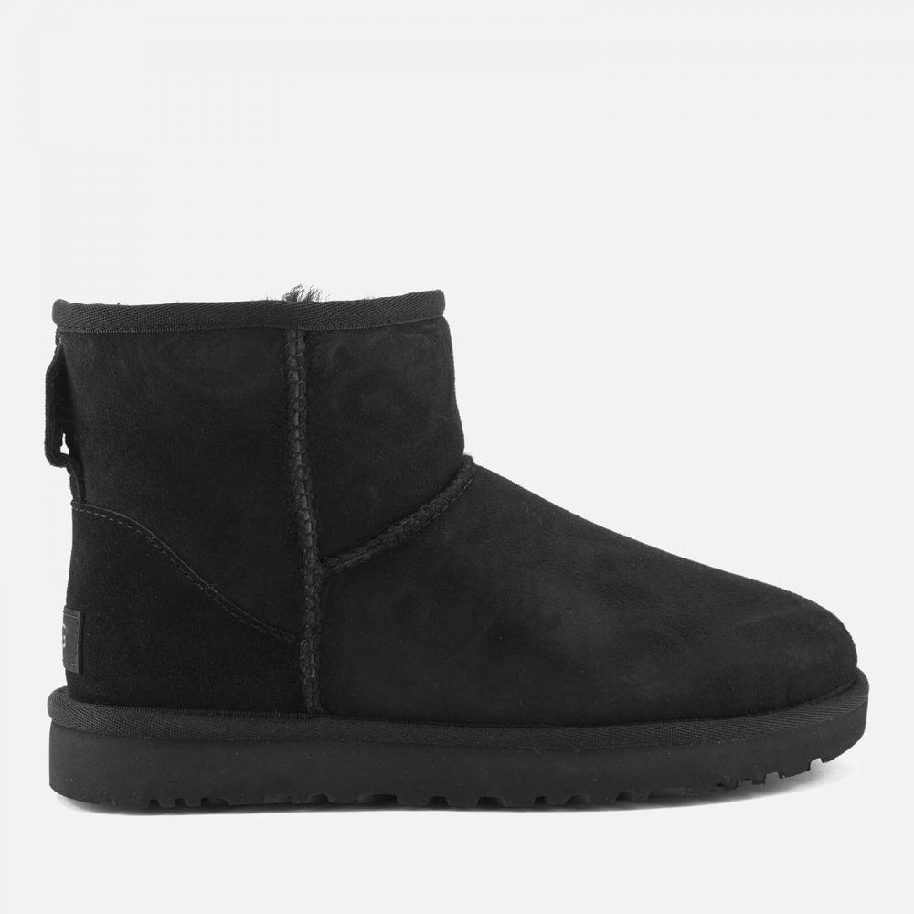 アグ UGG レディース ブーツ シューズ・靴【classic mini ii sheepskin boots - black】Black