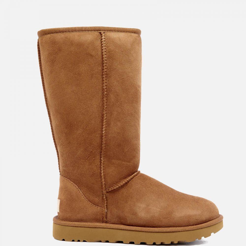 アグ UGG レディース ブーツ シューズ・靴【classic tall ii sheepskin boots - chestnut】Tan
