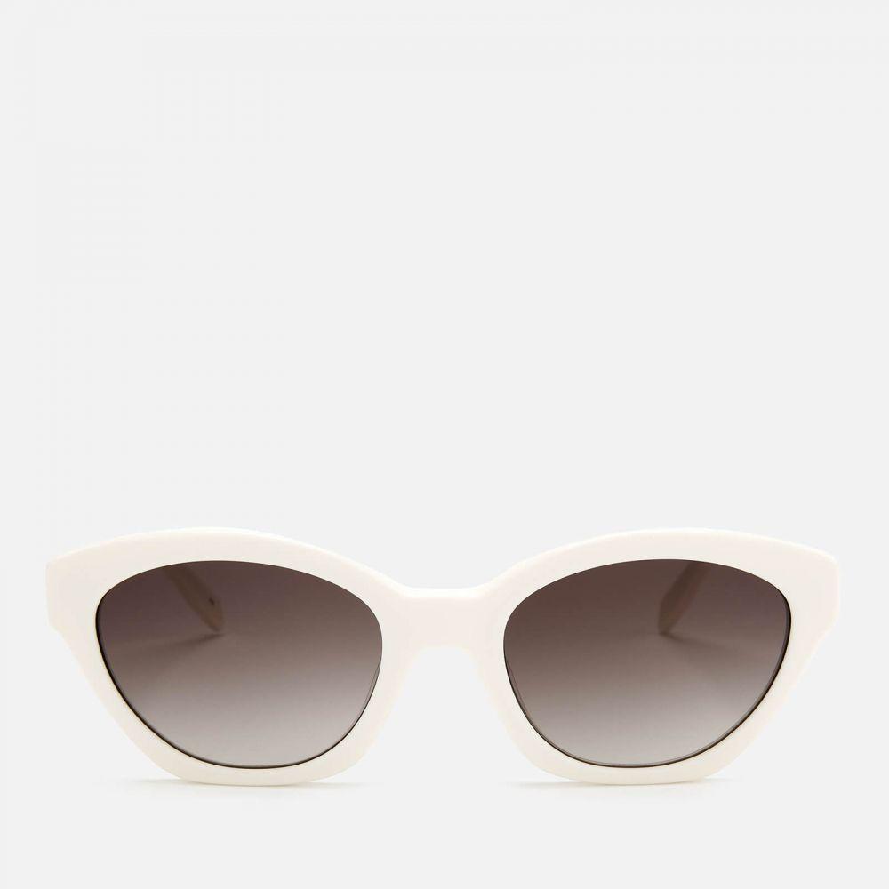 カール ラガーフェルド Karl Lagerfeld レディース メガネ・サングラス オーバル【oval frame sunglasses - white】White