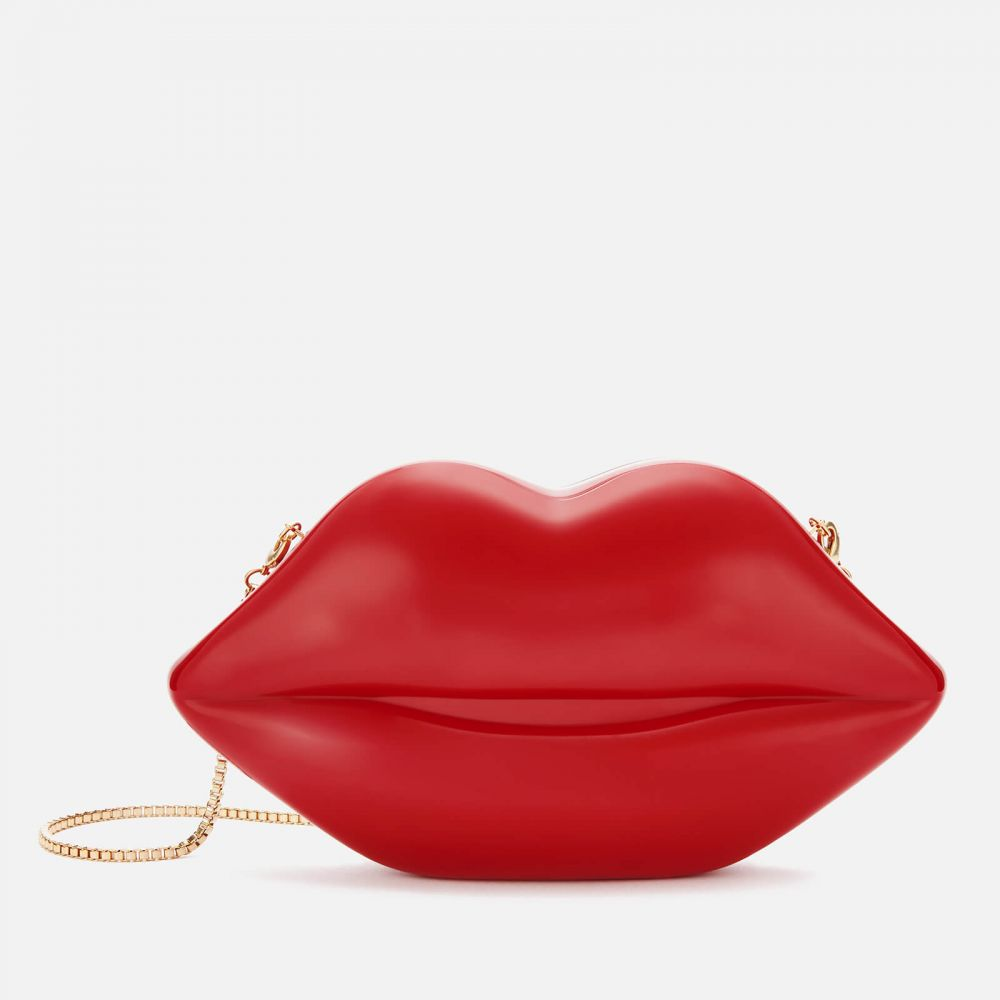 ルル ギネス Lulu Guinness レディース クラッチバッグ バッグ【medium lips clutch bag - classic red】Red