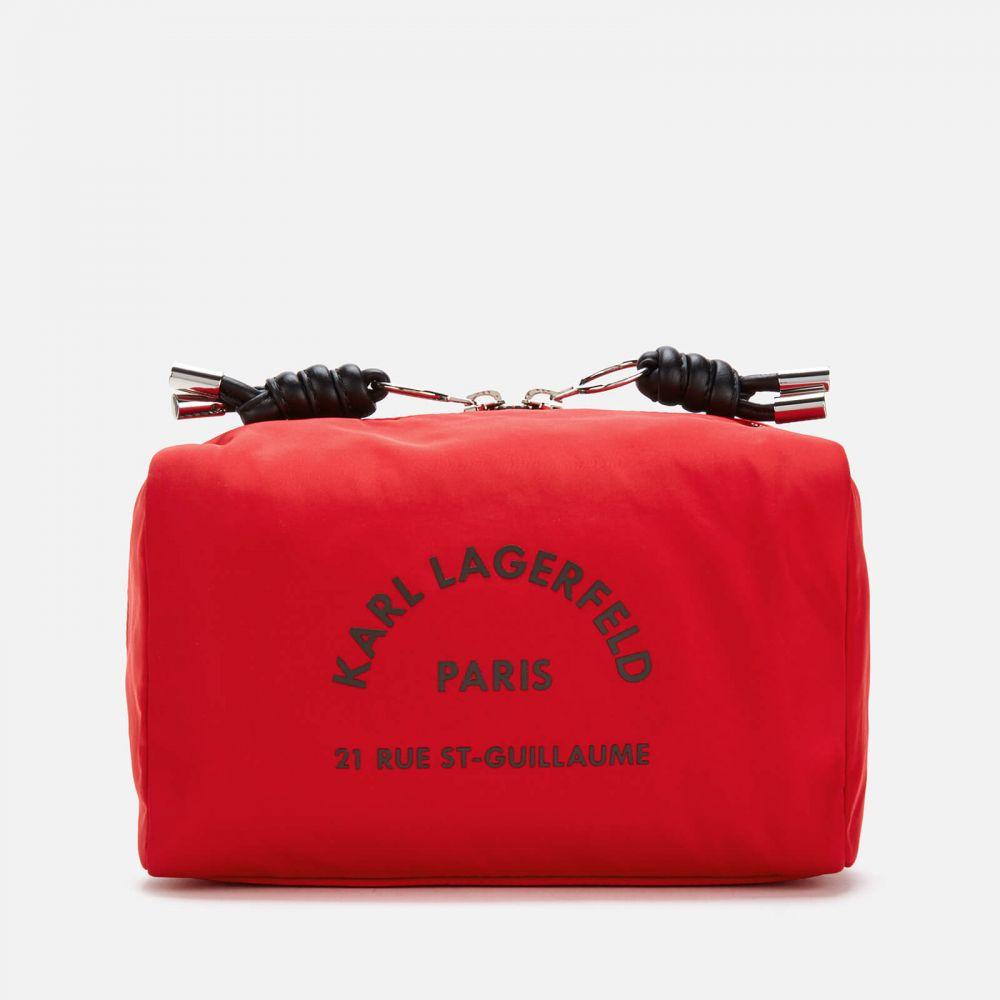 カール ラガーフェルド Karl Lagerfeld レディース ポーチ トラベルポーチ【Rue St. Guillaume Wash Bag - Red】Black