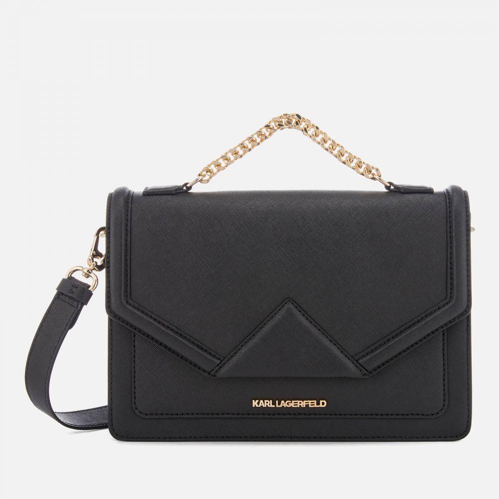 カール ラガーフェルド Karl Lagerfeld レディース ショルダーバッグ バッグ【K/Klassik Shoulder Bag - Black/Gold】Black
