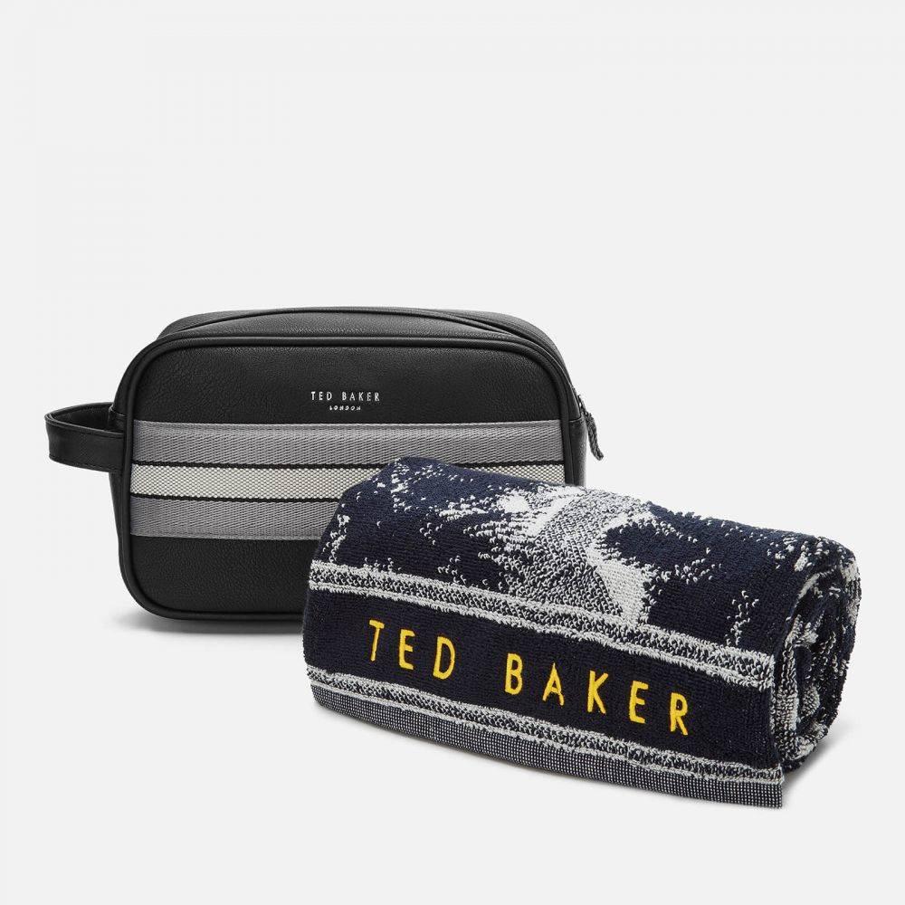 テッドベーカー Ted Baker メンズ ポーチ トラベルポーチ【Endset Washbag and Towel Gift Set - Black】Black