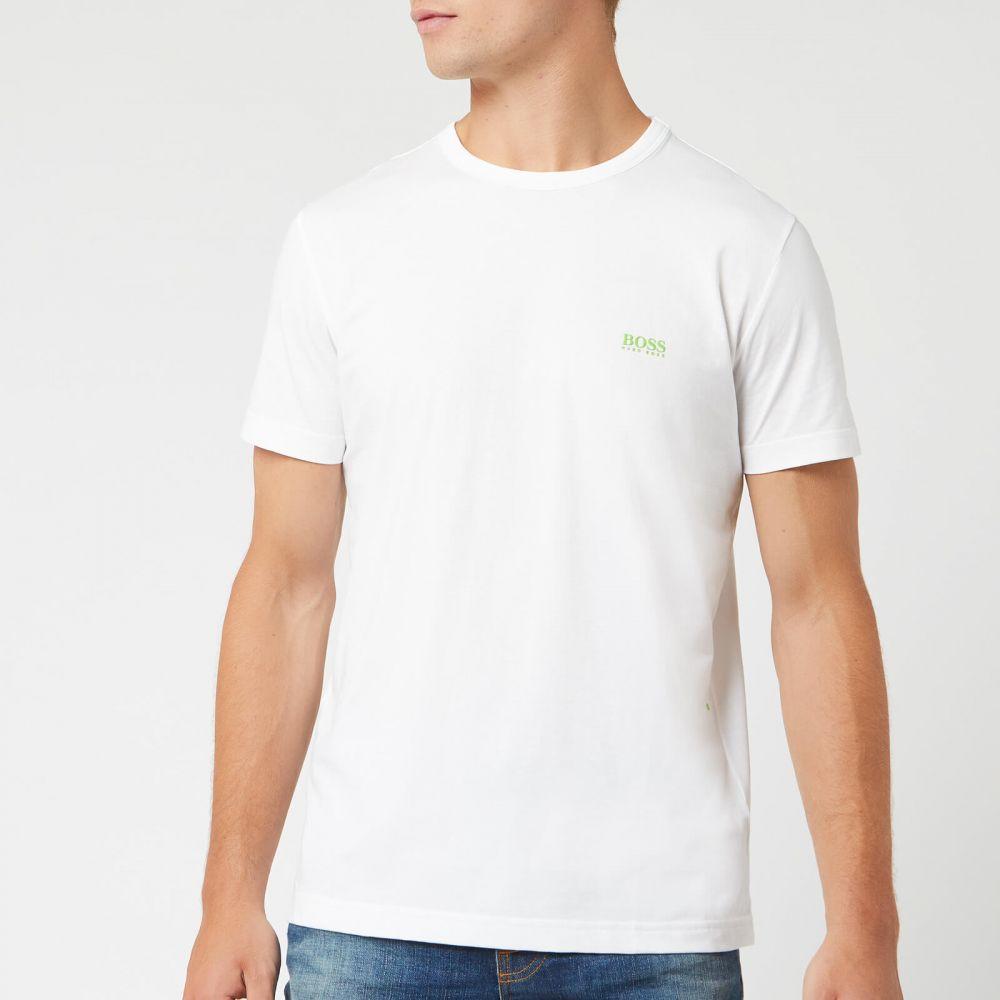 ヒューゴ ボス BOSS メンズ Tシャツ トップス【Basic Crew Shoulder Logo T-Shirt - White】White