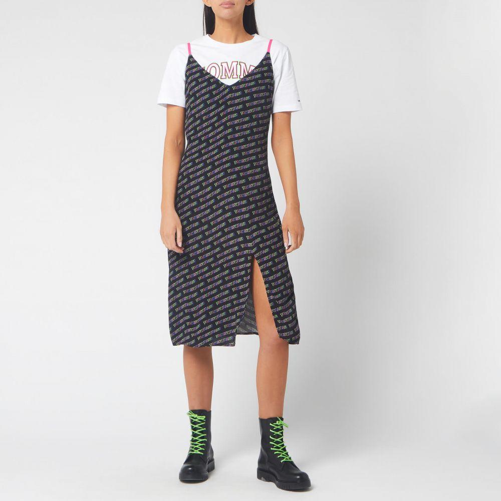 トミー ジーンズ Tommy Jeans レディース ワンピース ワンピース・ドレス【Printed Strap Dress - Tommy Black】Black