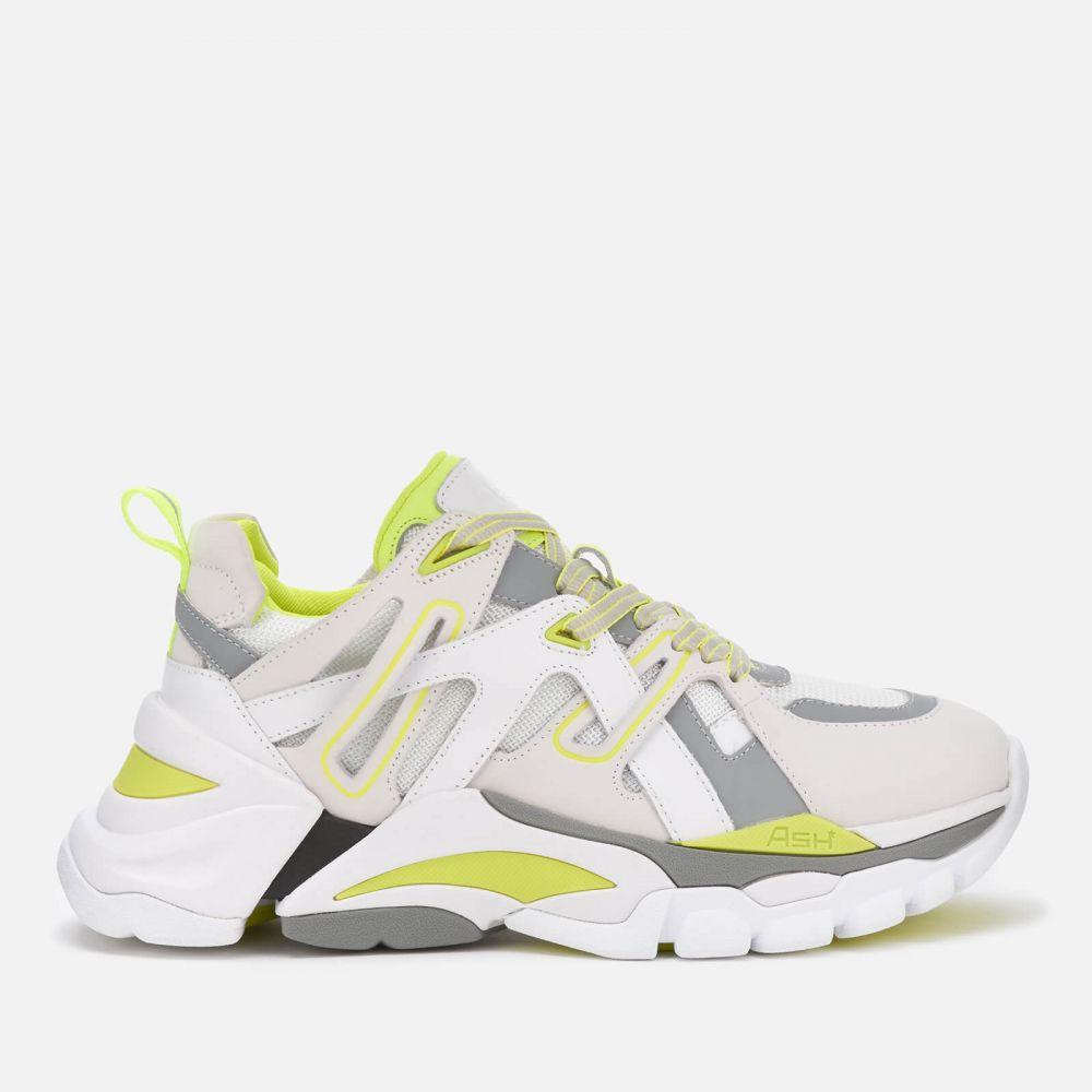 アッシュ Ash レディース ランニング・ウォーキング シューズ・靴【Flash Running Style Trainers - White/Silver/Fluo Yellow】White