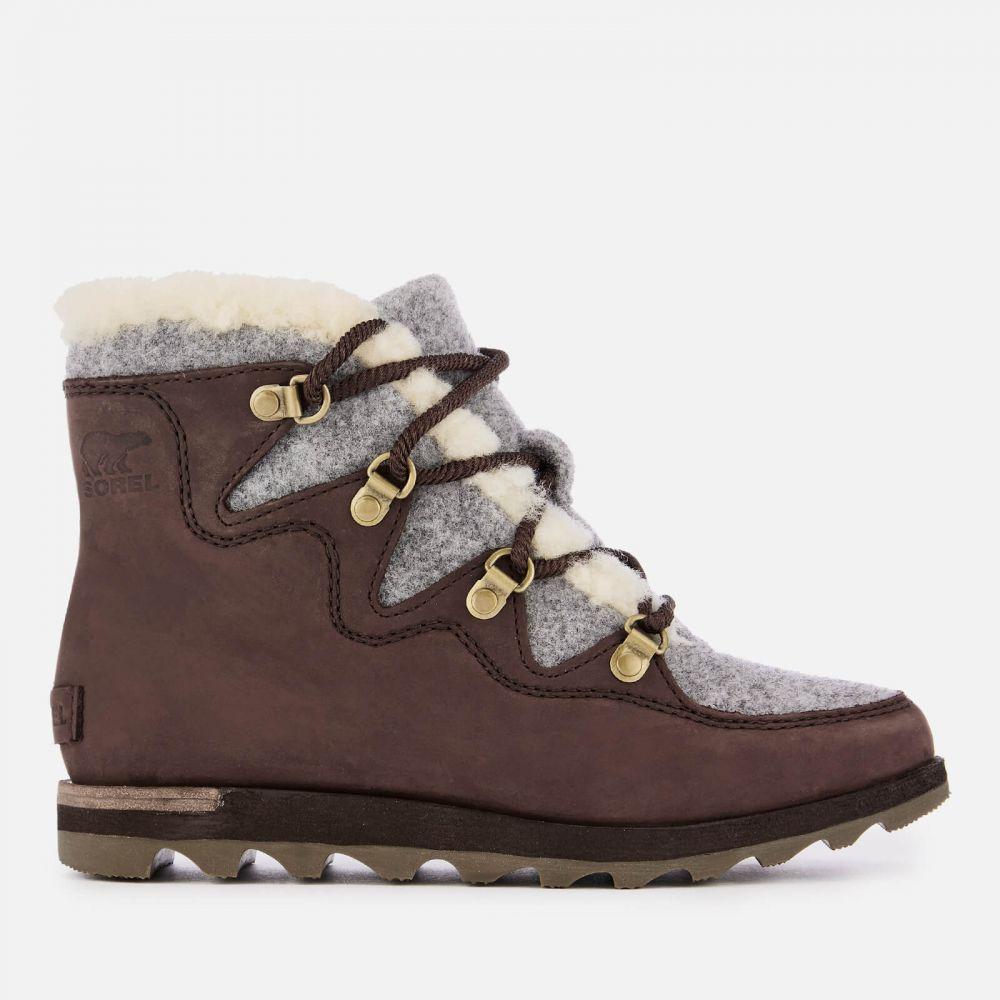ソレル Sorel レディース ハイキング・登山 ブーツ シューズ・靴【Sneakchic Alpine Hiker Style Boots - Cattail】Brown