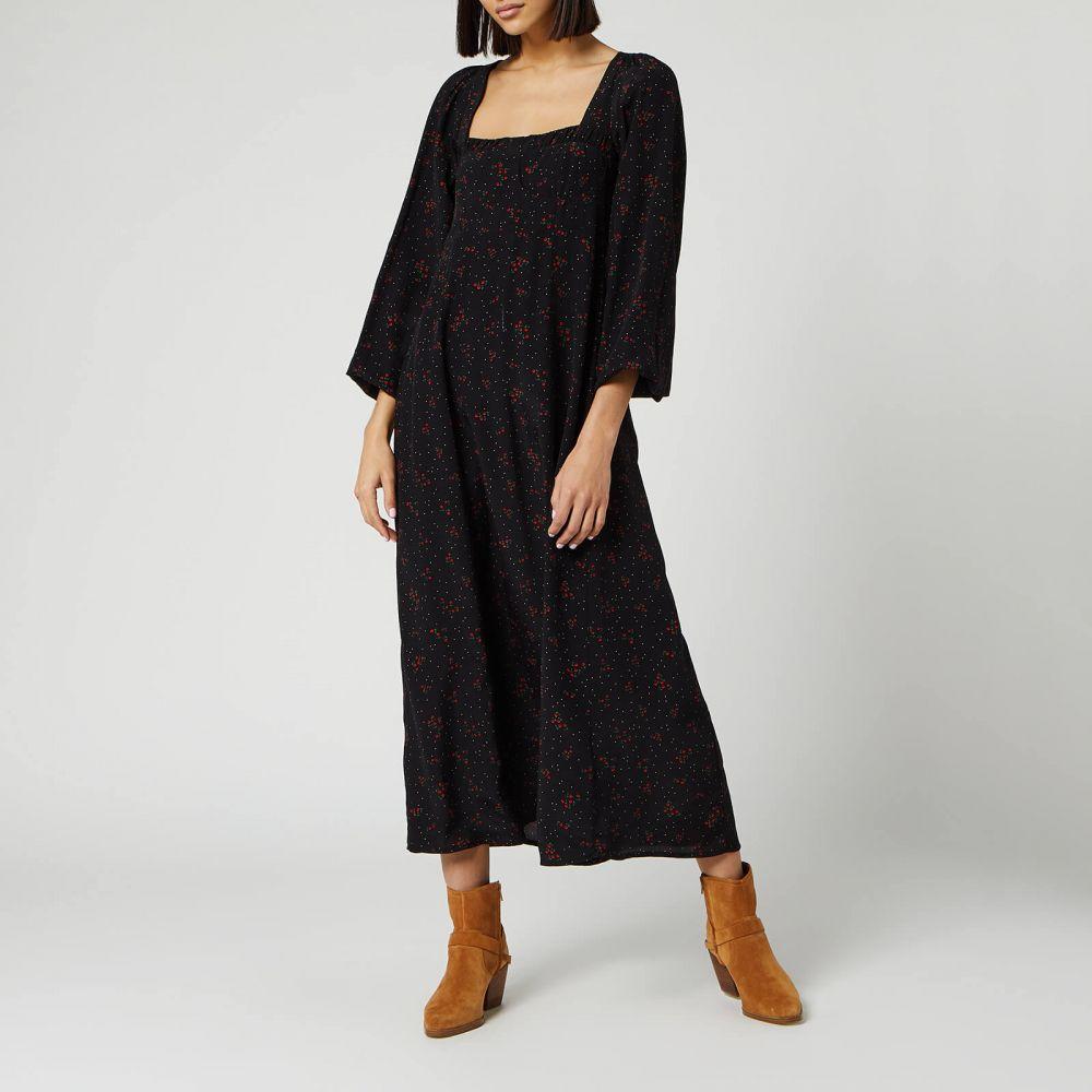 フリーピープル Free People レディース ワンピース ミドル丈 ワンピース・ドレス【Iris Midi Dress - Black】Black