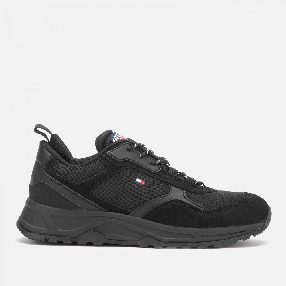 トミー ヒルフィガー Tommy Hilfiger メンズ ランニング・ウォーキング シューズ・靴【Fashion Mix Chunky Running Style Trainers - Black】Black