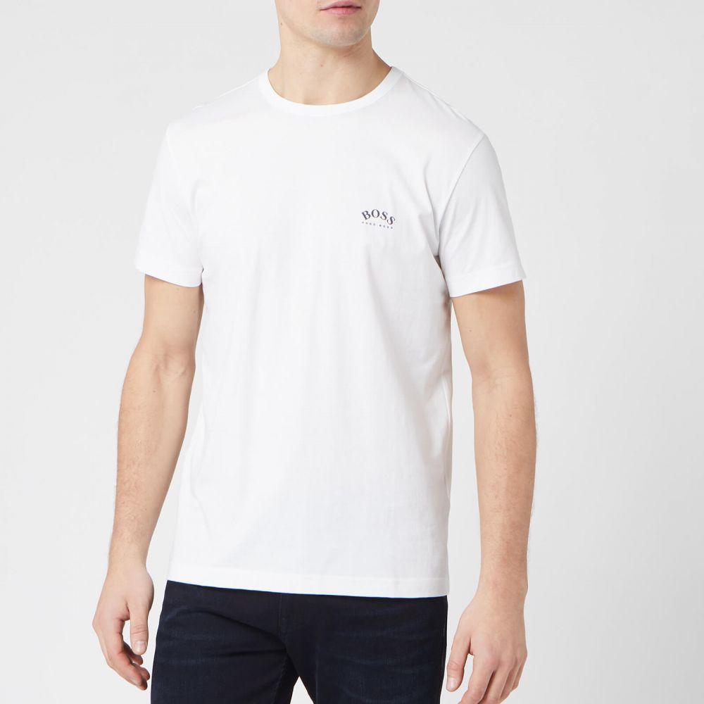 ヒューゴ ボス BOSS メンズ Tシャツ トップス【Curved Logo T-Shirt - Natural】White