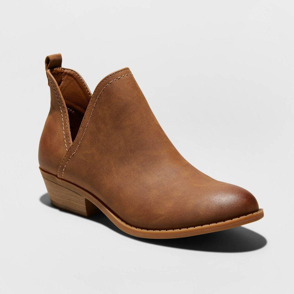 ユニバーサルスレッド Universal Thread レディース ブーツ ショートブーツ シューズ・靴【Nora Faux Leather Cut Out Ankle Bootie -】Cognac