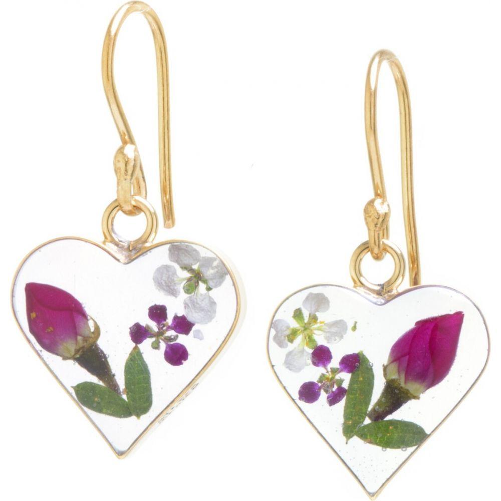 ターゲット target レディース イヤリング・ピアス ドロップピアス ハート ジュエリー・アクセサリー【Gold over Sterling Silver Pressed Flowers Small Heart Drop Earrings】